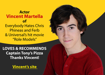 Vincent Martella Loves Captain Tonys